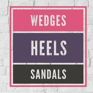 Wedges, Heels & Sandals